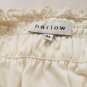 Harlow Tops - Vintage Harlow off the shoulder creme Lace